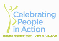 2009 National Volunteer Week logo