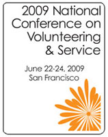 2009 National Conference on Service and Volunteering logo