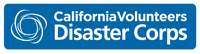 CaliforniaVolunteers Disaster Corps logo