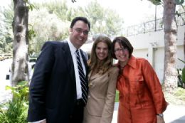 Photo of Michael Nunez, Maria Shriver, and Karen Baker