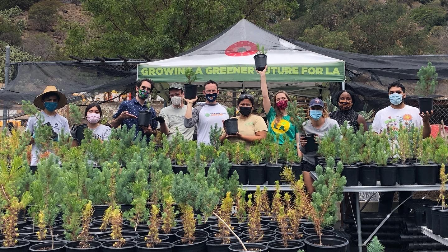 #ClimateActionCorps Fellows at City Plants and Los Angeles County District 4